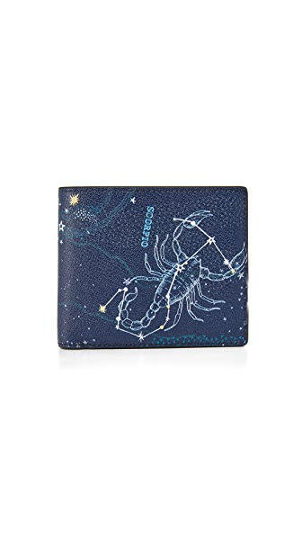Michael Kors Scorpio Leather Astrology Billfold
