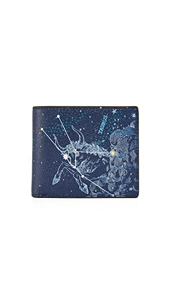 Michael Kors Taurus Leather Astrology Billfold