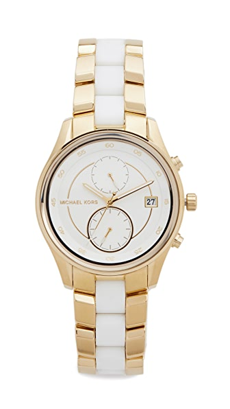 Michael Kors Briar Watch - Gold/White