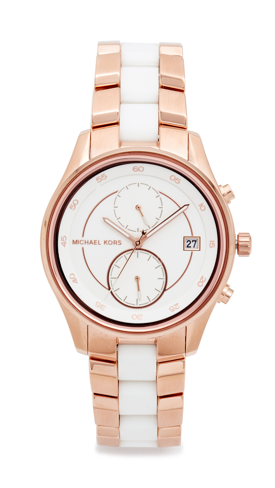 michael kors female michael kors briar watch rose goldwhite