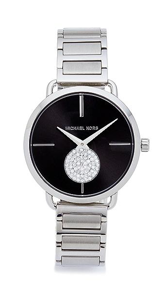 Michael Kors Partia Watch In Silver/Black