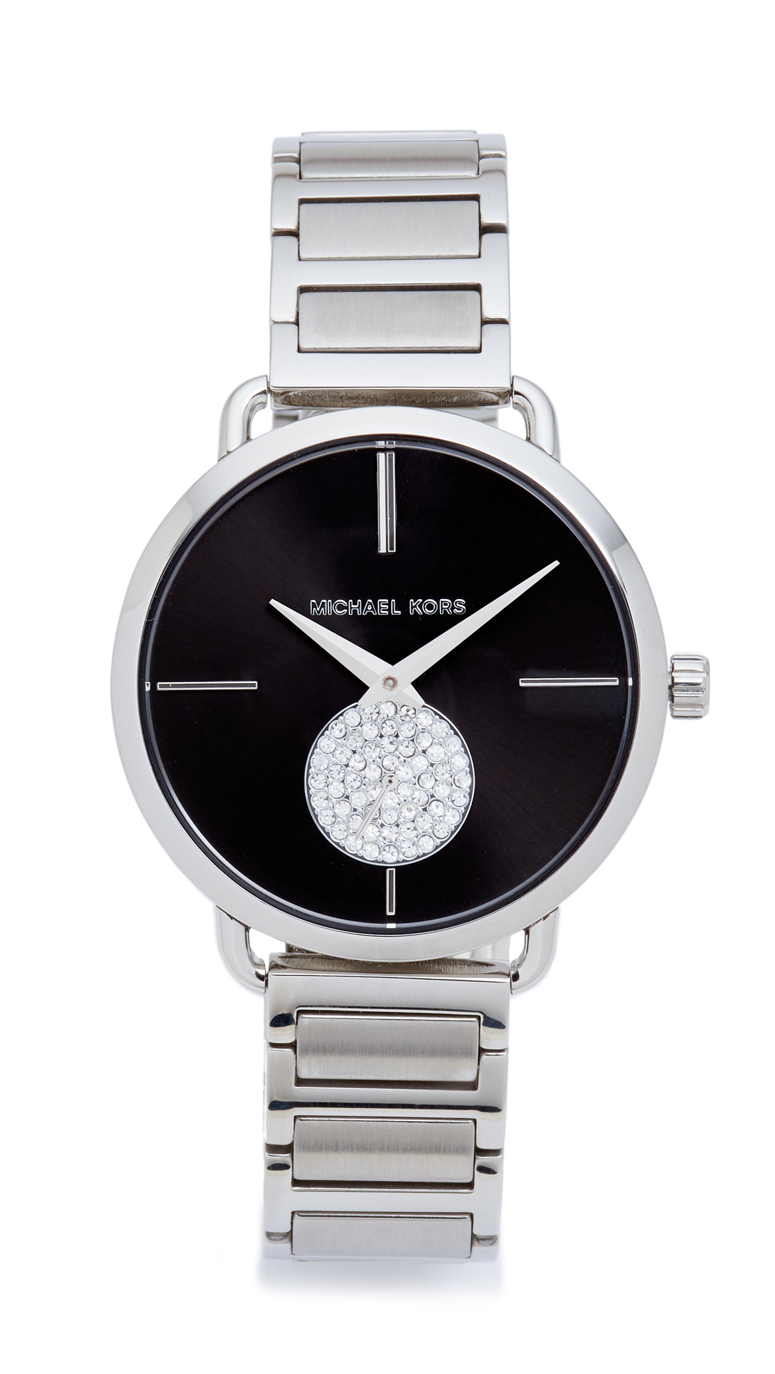 michael kors female michael kors partia watch silverblack