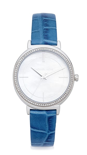 Michael Kors Cinthia Leather Watch