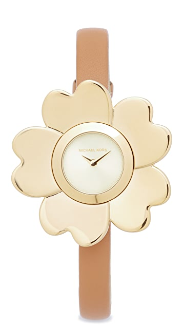 Michael Kors Mena Leather Watch