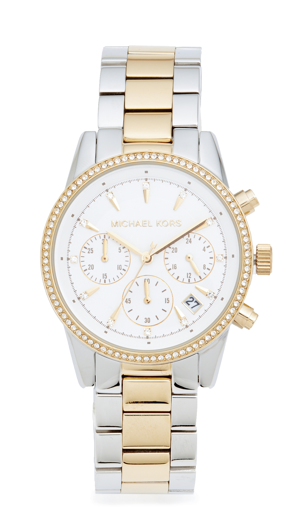 michael kors female michael kors ritz watch silvergold