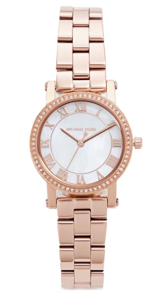 Michael Kors Petite Norie Watch In Rose Gold