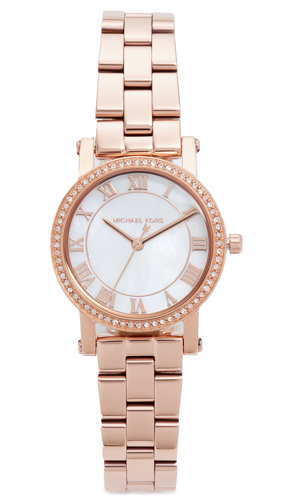 michael kors female michael kors petite norie watch rose gold