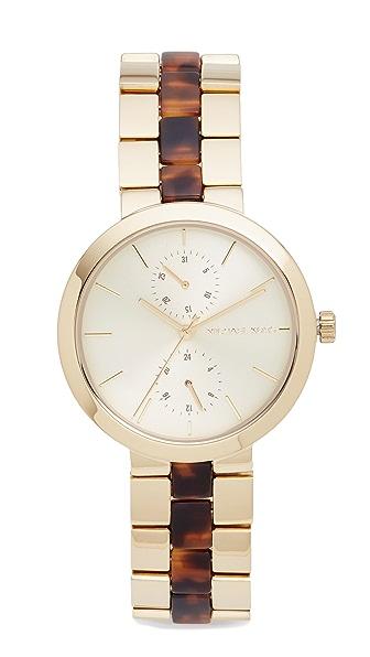 Michael Kors Garner Watch - Gold/Tortoise