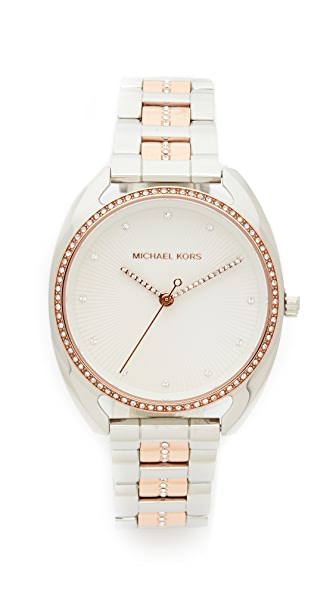 Michael Kors Libby Watch In Rose Gold/Silver