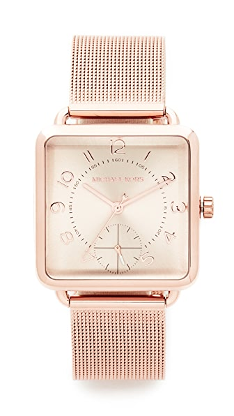 Michael Kors Brenner Watch In Rose Gold