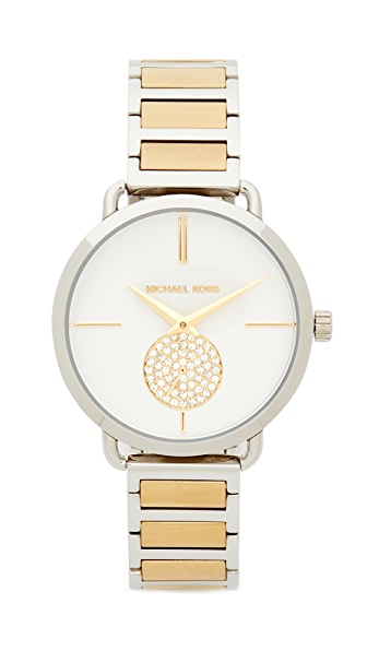 Michael Kors Portia Watch - Sterling Silver/Gold