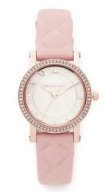 Michael Kors Petite Norie Leather Watch