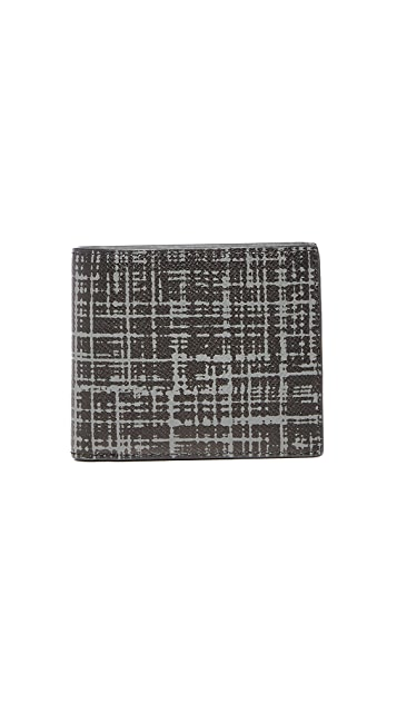 Michael Kors Harrison Brushed Grid Leather Billfold