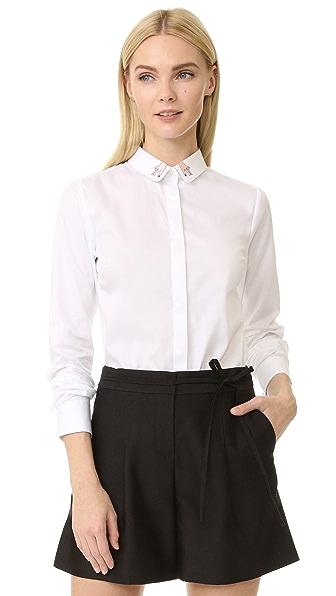 Maison Labiche Mains Button Down Shirt - Blanc