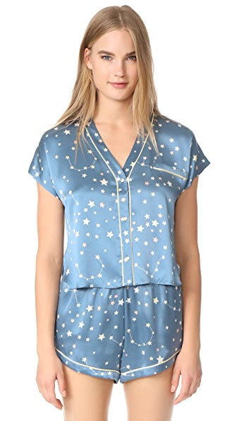 Morgan Lane Joanie PJ Top - Periwinkle