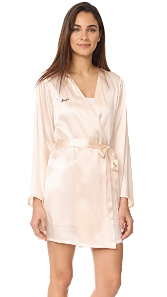 Morgan Lane Bestie Robe - Vanilla