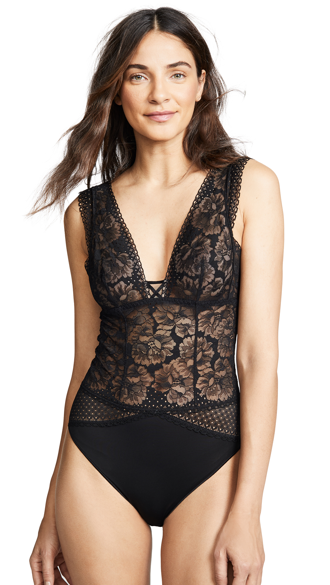 MAISON LEJABY DOT FLOWER BODYSUIT