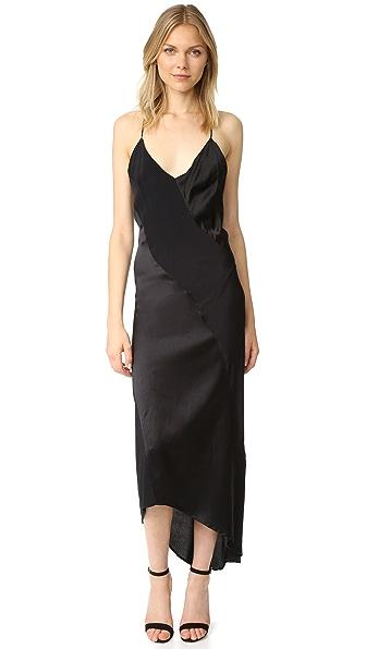 MLM LABEL Lennox Slip Dress - Black