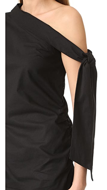 MLM LABEL Asymmetrical Tie Dress