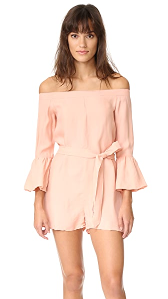 MLM LABEL Haze Shoulder Romper - Bellini