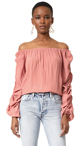 MLM LABEL Atlantic Off Shoulder Top - Rose Gold