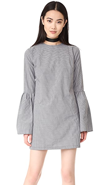 MLM LABEL Rhodes Dress - Black/White Small Gingham