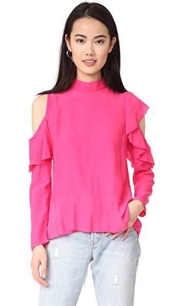 MLM LABEL Dylann Ruffle Top - Hot Pink