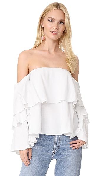 MLM LABEL Mesa Shoulder Top In White