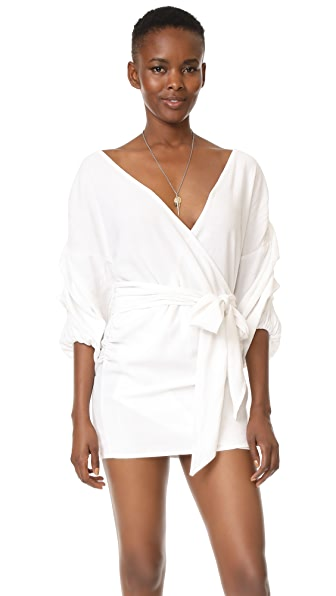 MLM LABEL Salo Wrap Dress - White