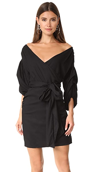 MLM LABEL Salo Wrap Dress In Black
