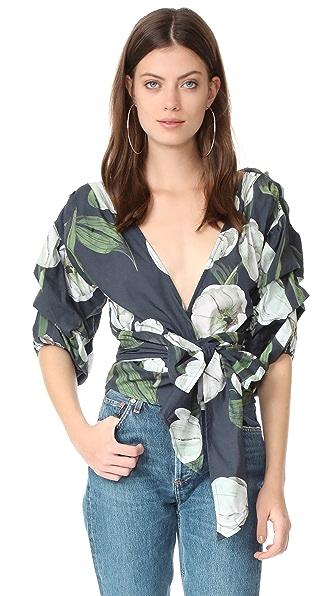 MLM LABEL Salo Wrap Shirt - Tulip