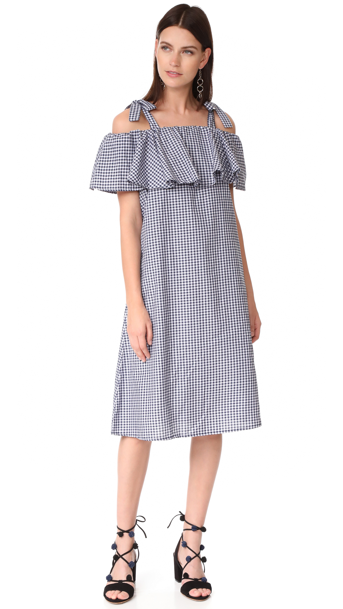 MLM LABEL Tobin Ruffle Midi Dress