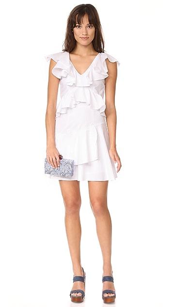 MLM LABEL Charm Poplin Ruffle Dress