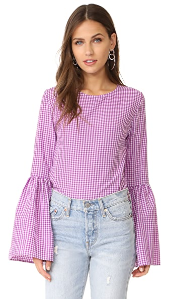 MLM LABEL Rhodes Top - Berry Check