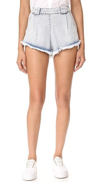 MLM LABEL Henri Denim Shorts - Blue Washed Denim