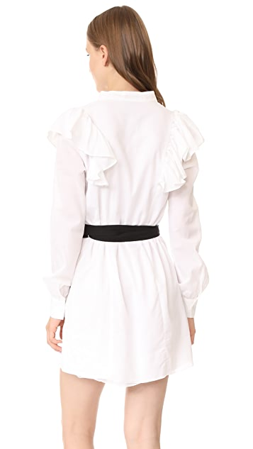 MLM LABEL Miller Ruffle Shirtdress