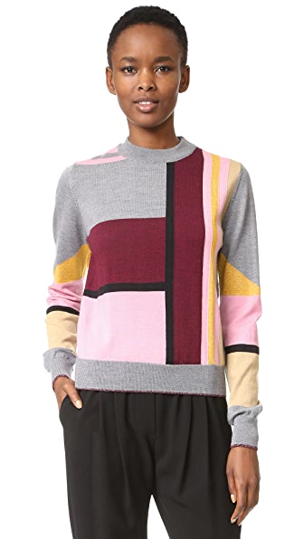 Markus Lupfer Lurex Stripe Grace Sweater - Multi