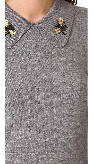 Markus Lupfer Bee Collar Sweater