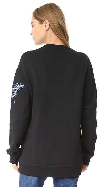 Markus Lupfer Embroidered Butterfly Sweatshirt
