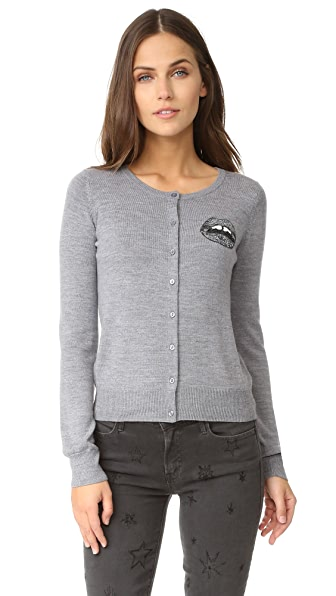 Markus Lupfer Tonal Sequin Mini Lara Cardigan - Grey