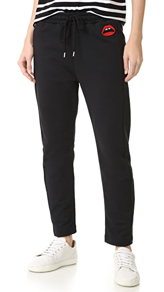 Markus Lupfer Red Lara Lip Daria Sweatpants - Black