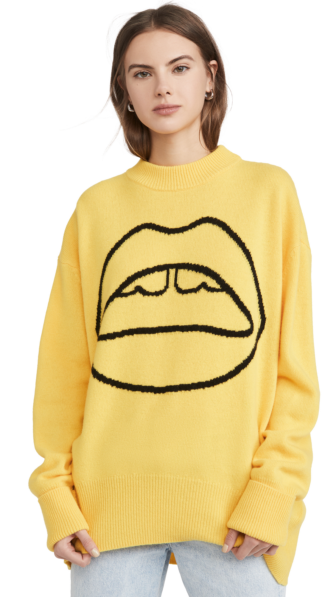 Buy Markus Lupfer online - photo of Markus Lupfer Erin Lara Lip Crew Neck Sweater