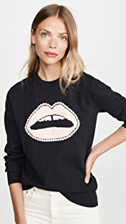 Markus Lupfer Mia Crochet Lip Sweatshirt