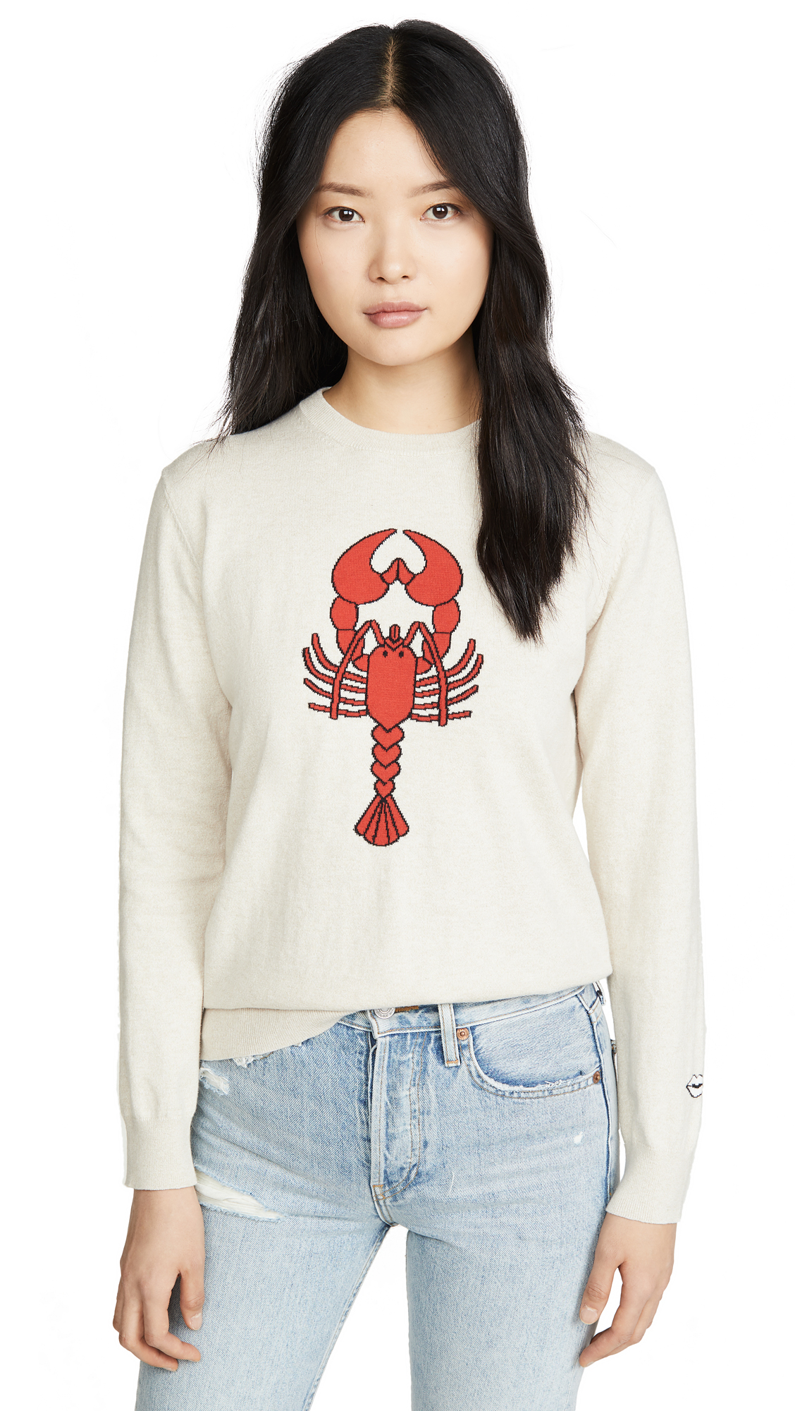 Buy Markus Lupfer online - photo of Markus Lupfer Mia Intarsia Lobster Sweater