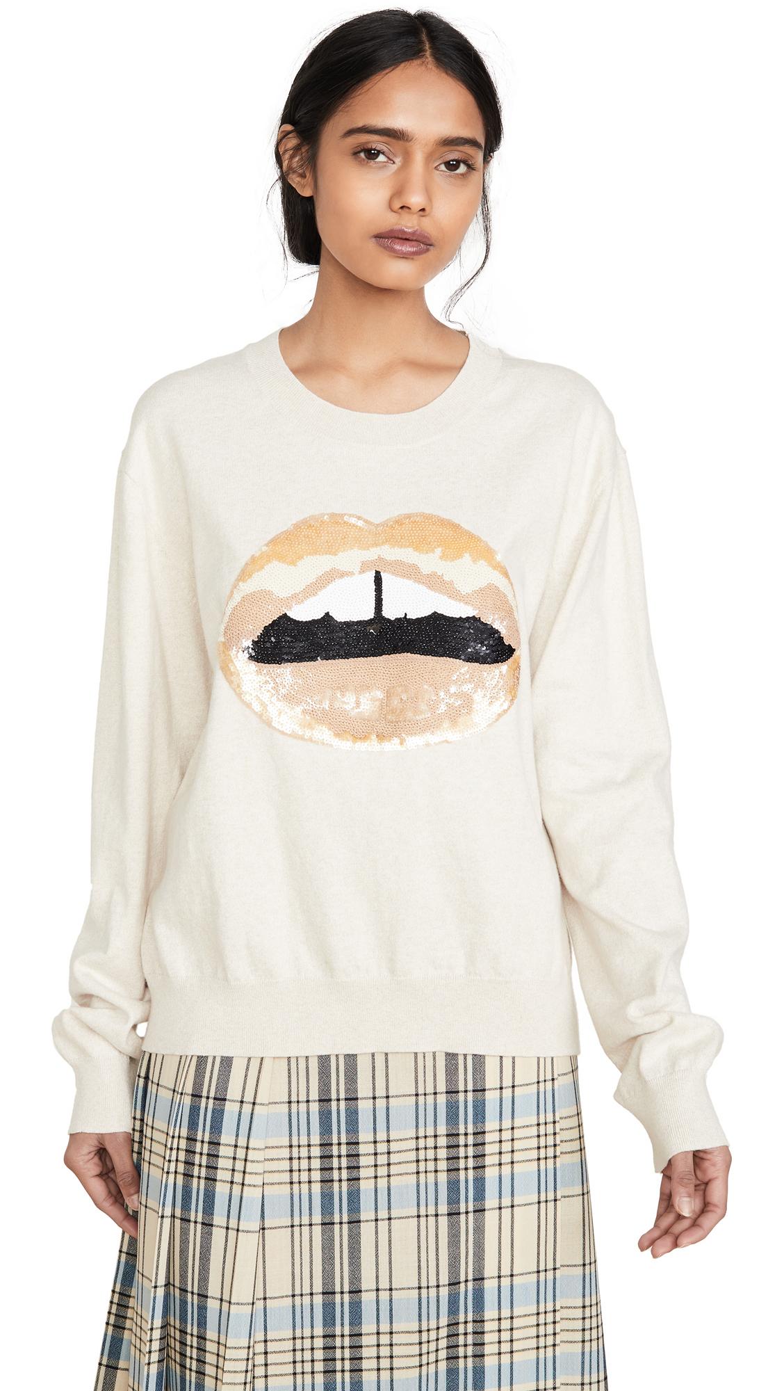 Buy Markus Lupfer online - photo of Markus Lupfer Joey Sequin Tonal Lip Sweatshirt