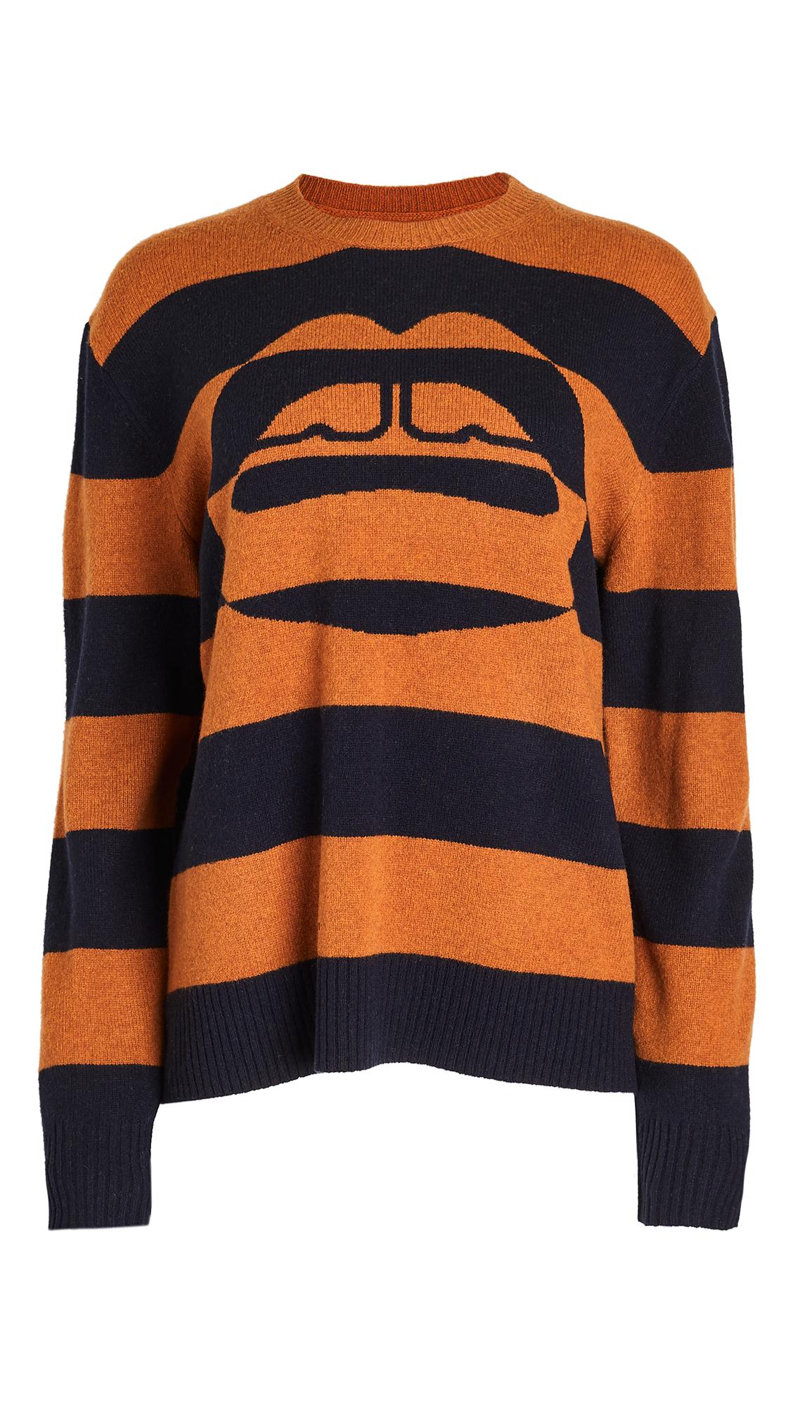 Markus Lupfer Dani Intarsia Stripe Lip Sweater