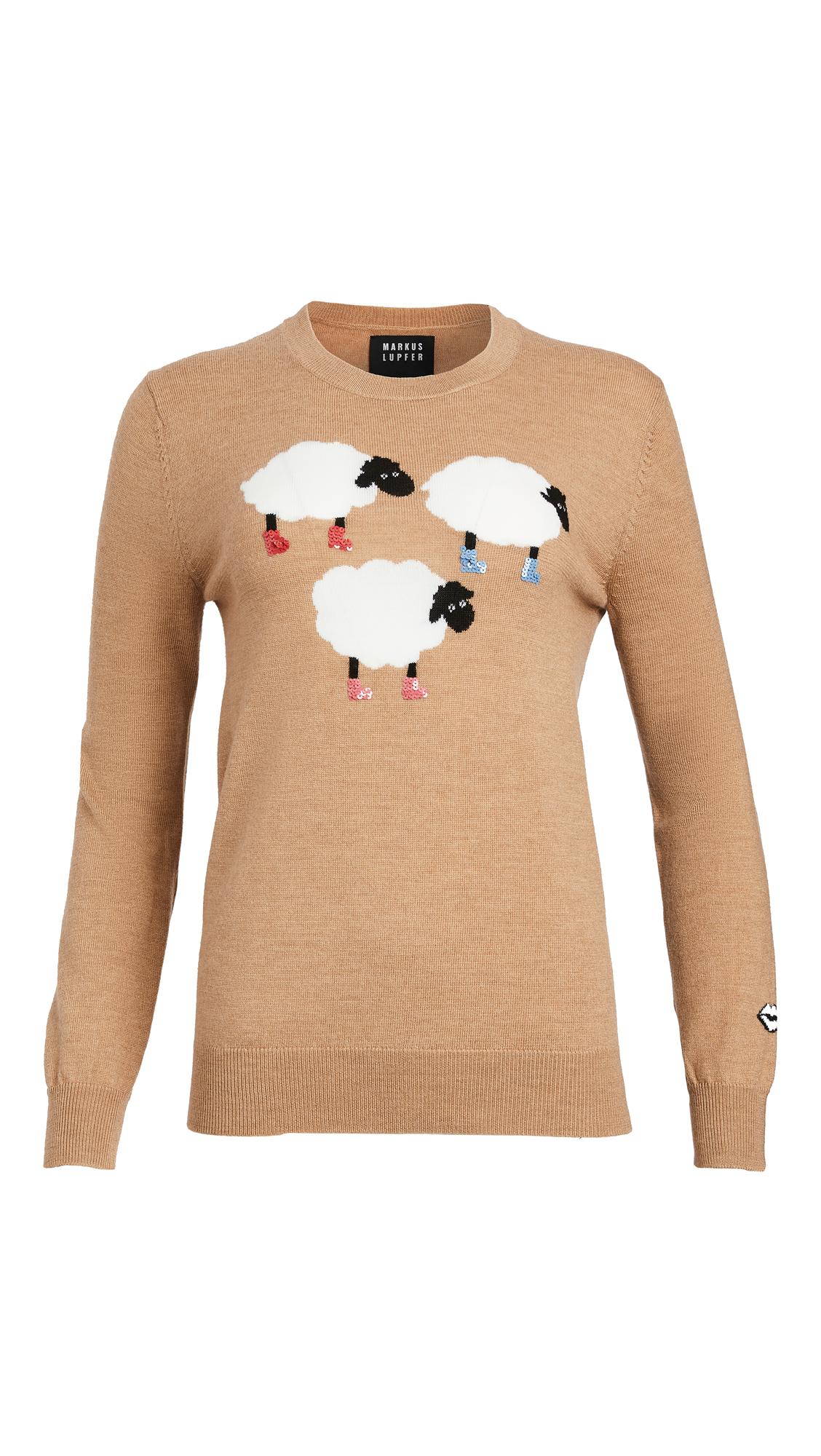 Markus Lupfer Natalie Sequin Sheep Sweater