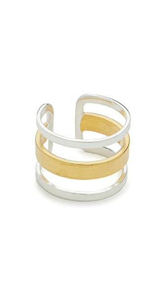 Maya Magal Stripe Ring - Silver/Gold