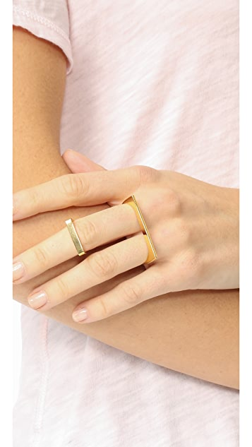 Maya Magal Double Plate Ring