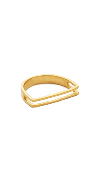 Maya Magal Channel Ring - Gold